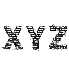 Black empty decorative aggressive brick style font vector image vector image