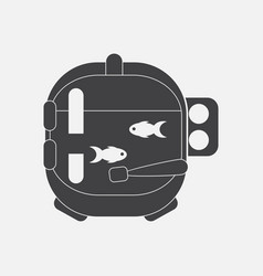 Black icon on white background astronaut helmet vector