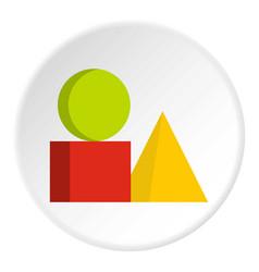 Box of bricks icon circle vector