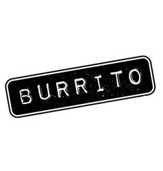 Burrito rubber stamp vector