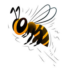cartoon bee on a white background vector image vector image
