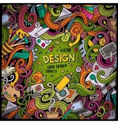 Cartoon cute doodles design frame vector image vector image
