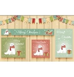 Christmas Set of Web Banners vector image