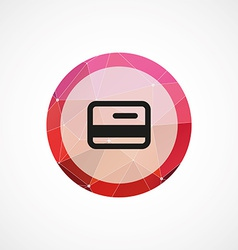 credit card circle pink triangle background icon vector image vector image