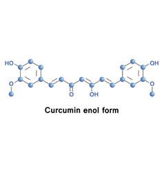 Curcumin enol form vector