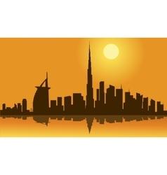 Dubai city skyline silhouette vector