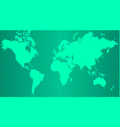 Earth map on trendy green gradient background vector