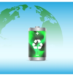 eco battery 2 vector image vector image
