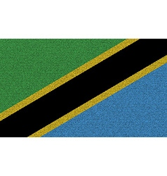 Flags Tanzania on denim texture vector image