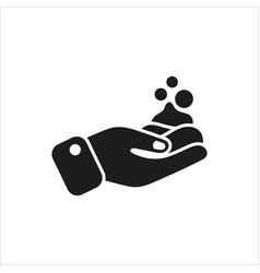 Foam on hand simple icon on white background vector