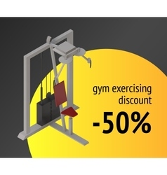 Gym exercise machine training device vector
