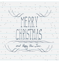 Hand drawn merry christmas sketch vector