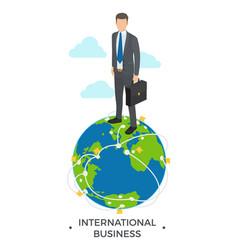 international business man vector image