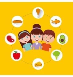 Kids menu restaurant icon vector