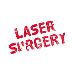 Laser surgery rubber stamp vector