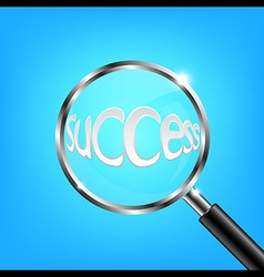 Magnifying Glass Focus Success vector image