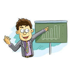 man doing presentation vector image