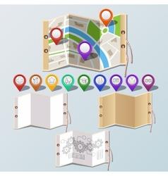 navigation and paper set vector image