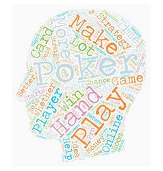 Online poker strategy that works for any player vector
