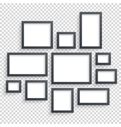 Picture frames photo art gallery dark vector