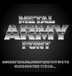 Retro future font vector