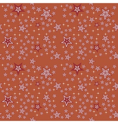 Seamless stars pattern background vector image