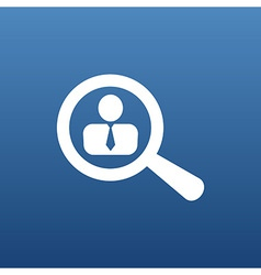 Search people icon human business symbol vector
