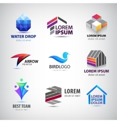 set of various logos Bird house team vector image vector image