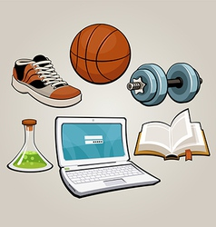 sports and educational student set vector image vector image