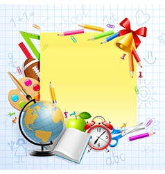stationery and objects vector image vector image