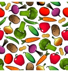 Vegetables and legumes seamless pattern vector image vector image