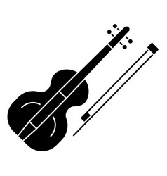 violin icon black sign on vector image
