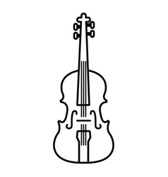 violine icon outline style vector image