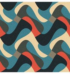 Wavy geometric ornament vector