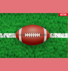 White line and american football ball on sport vector
