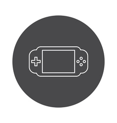 Game icon outline device vector