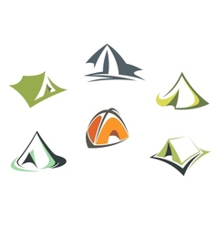 Travel and adventure camp tents vector