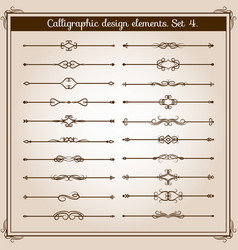 retro simple scroll page dividers vintage vector image