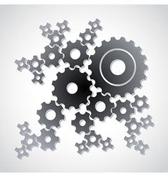 Cog gears background vector image