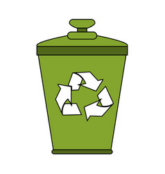 Recycle can vector