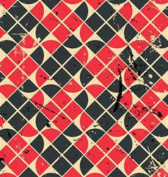 Geometric vintage seamless pattern with aged vector
