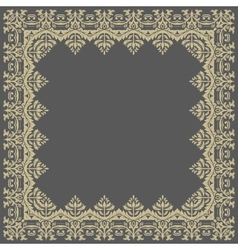 Floral pattern abstract golden frame vector