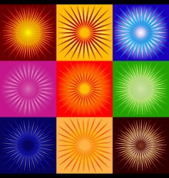 raysabstract backgrounds vector image