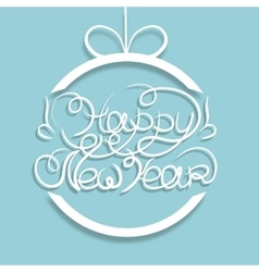 Card new year blue vector