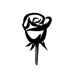 Rose simple icon vector