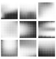 Set of abstract halftone background vector image