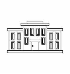 School building icon outline style vector