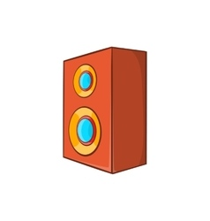 Brown speaker icon in cartoon style vector