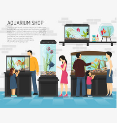 aquarium shop vector image