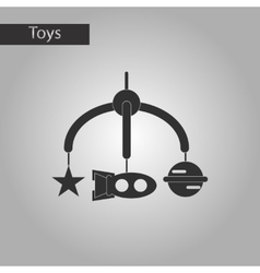Black and white style toy mobility vector